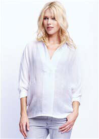 Maternal America - Oversize Blouse in White