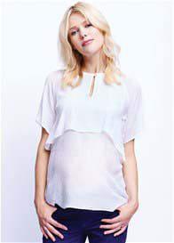 Maternal America - Layer Blouse in White