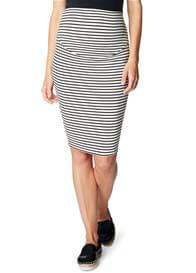 Esprit - Black Striped Over Bump Skirt