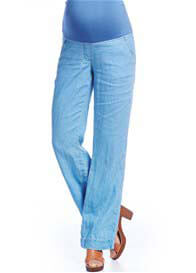 Queen mum - Blue Linen Trousers