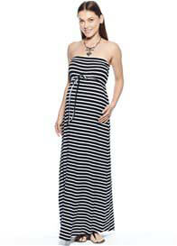 Imanimo - Caitlyn Strapless Dress in Navy Stripes - ON SALE