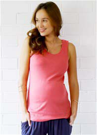 Trimester™ - Vincent Nursing Tank Top in Coral