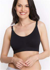 Loni Seamless Nursing Bra in Black