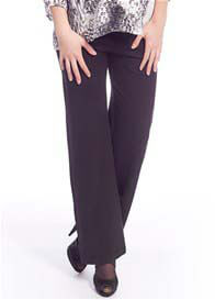 Queen mum - Flared Ponte Pants in Black