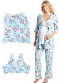 Everly Grey - Susan Mommy & Me PJ Gift Set in Azure Mist