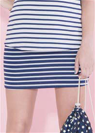 Paula Janz - Blueberry Striped Skirt - ON SALE