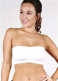 Ambra - Padded Bandeau Bra in White