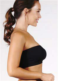 Ambra - Padded Bandeau Bra in Black