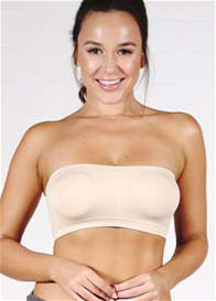 Ambra - Padded Bandeau Bra in Nude