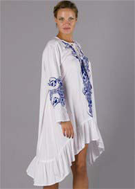 Fillyboo - Papinelle Dress in White/Blue