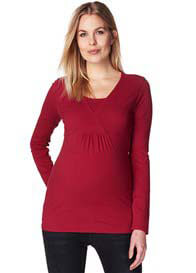 Esprit - Long Sleeve Nursing Top in Mission Red - ON SALE