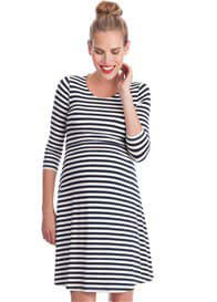 Seraphine - Nadia Striped Bamboo Nursing Dress