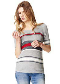 Supermom - Yara Mixed Stripe Ribbed T-Shirt