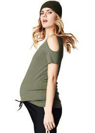 Supermom - Pearl Cut-Out Shoulder Top
