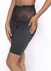 Lauryn Lace Tummy Control Long Leg in Black