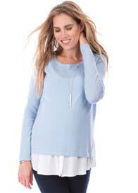 Seraphine - Trisha Nursing Jumper with Mock Shirt