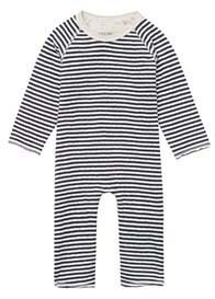 Noppies Baby - Ammon Striped Playsuit in Charcoal Stripes