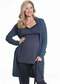 Cake Lingerie - Gateau Knit Robe in Navy
