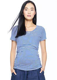 Milky Way - Everyday Basic Nursing Tee in Blue Stripes