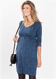 Esprit - Shadow Blue Print Nursing Dress