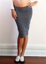 Trimester™ - Charlotte Skirt in Navy Zigzag