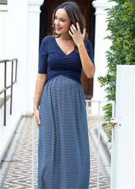 Trimester® - Melody Cross Over Nursing Maxi Dress