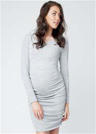 Ripe Maternity - Textured Knit Dress in Grey