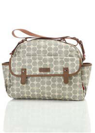 Babymel - Molly Baby Nappy Bag in Grey Floral Dot