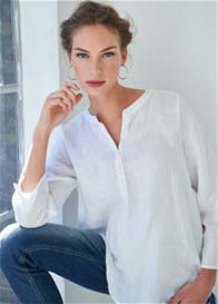 Queen mum - White Linen Blouse