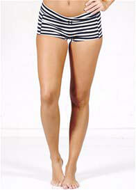 QueenBee® - Genisa Under Bump Briefs in Blue Stripes