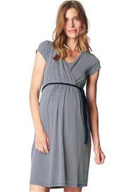 Esprit - Flowing Nursing Dress in Night Blue Print