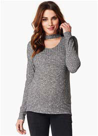Noppies - Giovanna Choker Knit Top in Anthracite - ON SALE