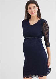 Esprit - Night Blue Lace Evening Dress