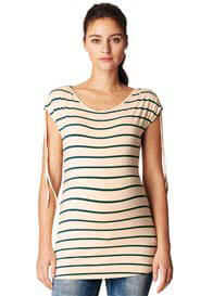 Noppies - Leah Tie Sleeve Top in Green Stripes
