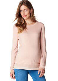 Esprit - Knit Jumper w Blouse Hem in Champagne Pink - ON SALE