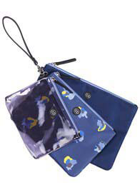 TWELVE little - Trio Pouch in Navy Floral
