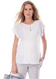 Seraphine - Nancy Invisible Zip Nursing Blouse