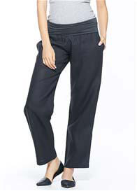 Milky Way - Havana Linen Pants in Black