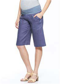 Milky Way - Linen Bermuda Shorts