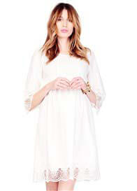 Ingrid & Isabel - Lace Trim Bell Sleeve Dress
