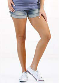 Pregnancy to Recovery Denim Shorts