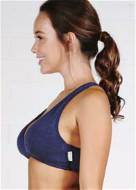 QueenBee® - Elora Nursing Sleep Bra in Navy