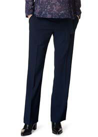 Esprit - Belted Navy Straight Leg Trousers