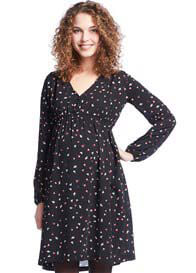 Queen mum - Black Bird Print Dress