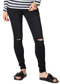 Supermom - Ripped Skinny Black Jeans