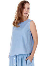 Imanimo - Margo Chambray Tank Top