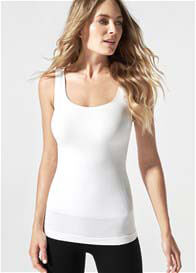 Blanqi - Postpartum Pull-Down Nursing Support Tank Top in White