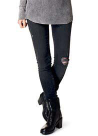 Supermom - Distressed Patched Skinny Jeans - ON SALE