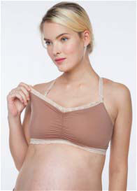 Belabumbum - Nursing Crop Bra in Nude