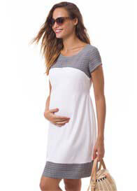 Pomkin - Bettina Nursing Dress in White Palmette
